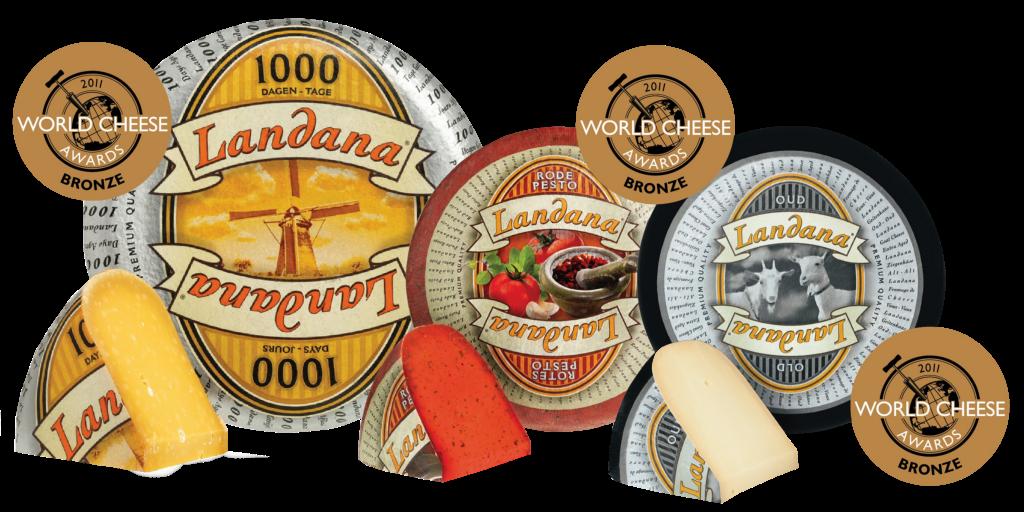 Landana kaasspecialiteiten in de prijzen bij World Cheese Awards
